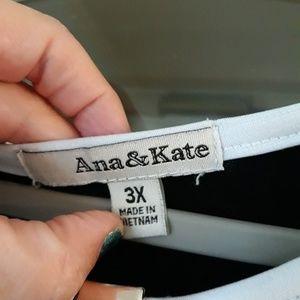 Ana & Kate Dresses - Women's Sexy 3x mini dress, slit 3/4 sleeves